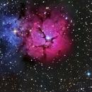 M20 Trifid Nebula from Pla de la Calma.,                                J.L.López Salas