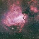 Messier 17 - HOO + LRGB,                                Eric Walden