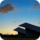 Comet (C/2020 F3) NEOWISE at Daybreak over Beckwith Township Solar Structures,                                Doug Griffith