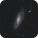 M106 - Galaxy in Canes Venatici - May 2020 v1,                                Martin Junius