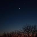Moon near Venus 27 Feb 2020 Phone shot Alcatel 5099Y,                                Neil Emmans