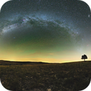 The tree and milkyWay in Lozère (Parc National Cévennes),                                Maxime Tessier