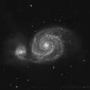 Messier 51 - Luminance,                                Ian Aiken