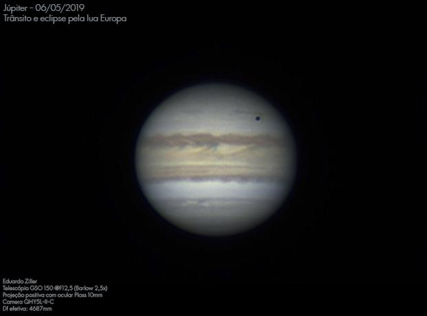 Jupiter - Europa eclipse,                                Eduardo Duarte Zi...