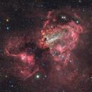 Omega Nebula - Messier 17,                                Delberson