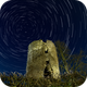 Startrails @ Tower of an old mill,                                Wolfgang Zimmermann