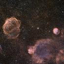 Sh2-224 and Super Nova Remnant G166.2+02.02 ,                                hbastro