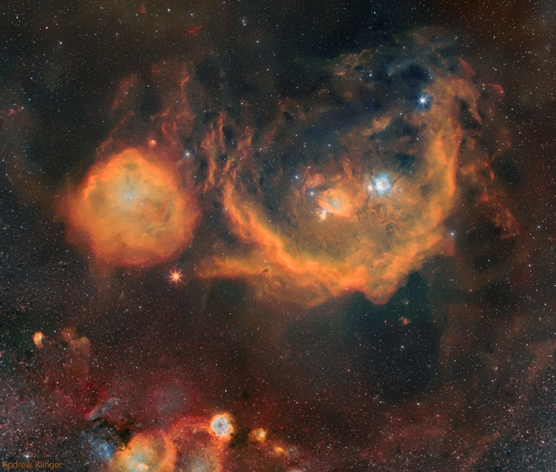 The Orion Molecular Cloud Complex presented in SHO,                                Andrew Klinger