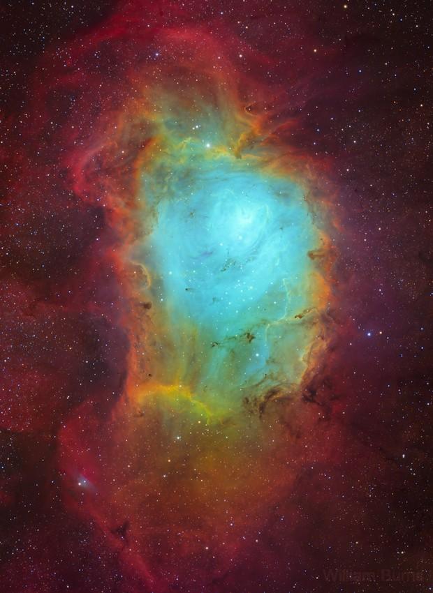 M8 Lagoon Nebula,                                William Burns