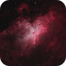 M16, The Eagle Nebula approximation of natural color using narrowband filters,                                Phil Hosey