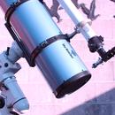 Equipment für 2012: Newton 200/1000 mm Skywatcher mit Leitrefraktor 60/700 mm und Nachführansatz GA-2 (Vixen),                    astrobrandy