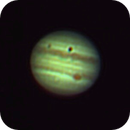 Jupiter and GRS with eclipsing Europa and shadow,                                Moleculejockey