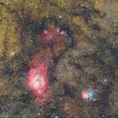 Wide field of Lagoon and Trifid Nebula,                                Michele Campini