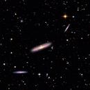 NGC4206/4216/4222 + Stellar Tidal Stream + Asteroid (45696) EM167,                                AstroEdy