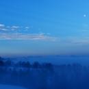 Moon setting and mount Monviso at dawn,                                Fausto Lubatti