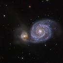 M51 RGB,                                Xavier V