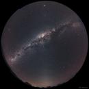 Full Sky Mosaic: Milky Way w/Zodiacal Band & Airglow,                                BQ_Octantis
