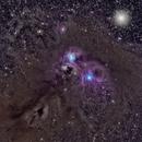 NGC 6726, 6727 6729, 6723, IC 4812, Be 157  (many Herbig-Haro Objects),                                  Alex Woronow