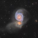 "M51 galaxy ""deep"" version (+IFN),                                Jean-Baptiste Auroux"