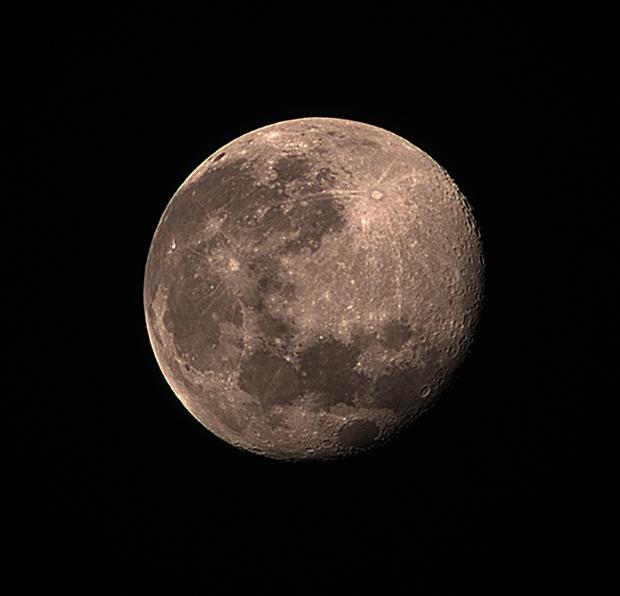 Moon with Samyang 135 mm and ASI224MC,                                Ben
