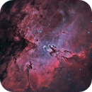 """M 16, the Eagle Nebula with """"The Pillars of Creation"""" in Hydrogen and Oxygen light,                                  Steve Cooper"""