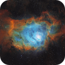 M8 The Lagoon Nebula SHO Version With RGB Stars,                                johnnywang