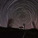 Startrail dall'Osservatorio del Teide a Tenerife,                                Giorgio Viavattene