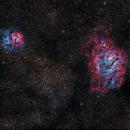 Trifid and Lagoon Nebulae,                                StarChaser1955