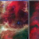 IR vs RGB Images of Soul Nebula,                                David McClain