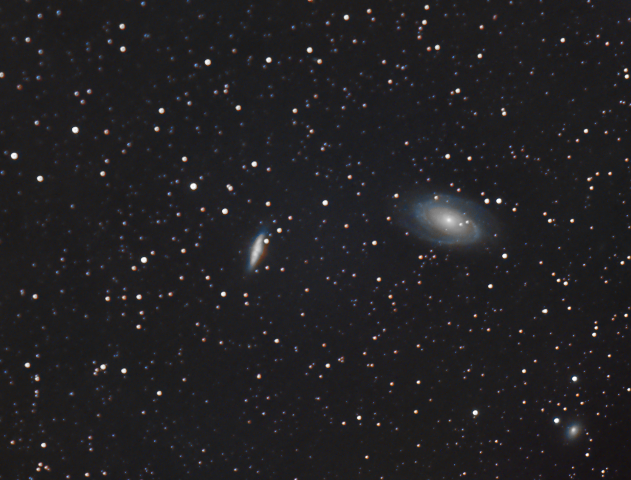M81 and M82 with Samyang 135,                                Ben