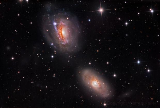 NGC 3166 and 3169,                                Warren A. Keller