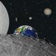 une partie de notre système solaire sur fond de ciel étoilé,                                FranckIM06