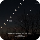 Jupiter occultation by the Moon (15 July 2012),                                Giuseppe Donatiello