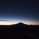 Venus and mounts Tronador, Osorno and Puntiago,                                Vincent Bchm