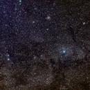 Cassiopeia, Wolken und Corona-Ausgangssperre,                                firstLight