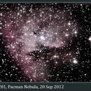 NGC 281, Pacman Nebula, 20 Sep 2012,                                David Dearden