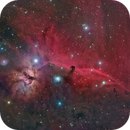Horsehead and Flame 2-panel mosaic in HaRGB,                                Tim Gillespie