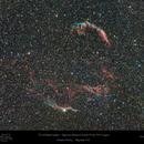 The Veil Nebula Complex in Cygnus - Wide field with Samyang 135mm,                                Paul Baker