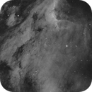 IC5070 Pelikan Nebula HA short test with Full Moon,                                Vincent