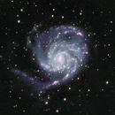 My First Mono Composition - M101 HaLRGB,                                Jason Pyron