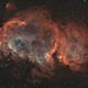 IC 1848 - Soul Nebula, 2-Panel-Mosaic [Bicolor],                                jdifool