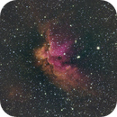 NGC7380: The Wizard Nebula (HNSO),                                orangemaze