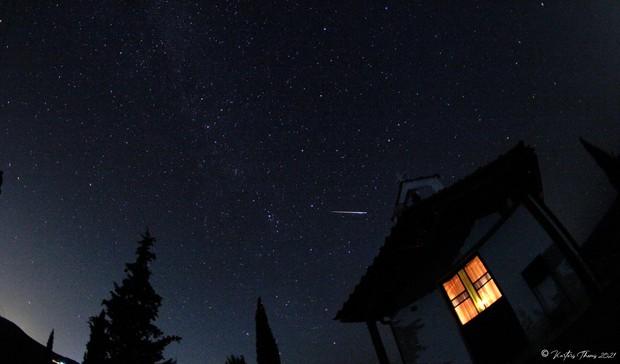 Perseid Meteor Shower 2021 Greece Chalkidiki Karteris Themis,                                Themis Karteris