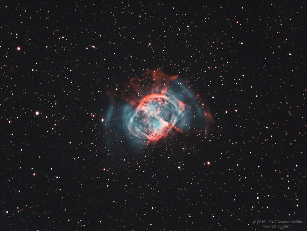 M27, The Dumbbell Nebula,                                Nicolas Kizilian