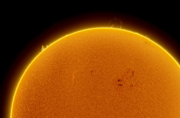 Solar Activity detail in Hα 2017-Sep-11,                                Jose Carballada