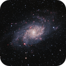 M33 in broad and narrow band,                                JNieto