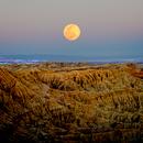 Fonts Point Sunset/Moonrise - Anza Borrego Desert State Park,                                Jim Matzger