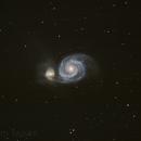 M51 Whirlpool Galaxy,                                Hata Sung