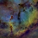 IC1396 Elephant's Trunk Nebula ( Hubble Palette - SHO),                                Jian Yuan Peng