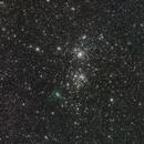 Comet C/2017 T2 PANSTARRS & Double Cluster,                                José J. Chambó